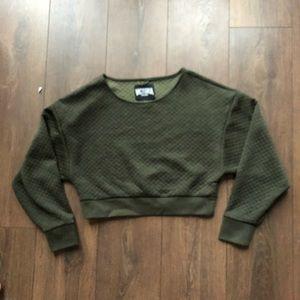 Victoria's Secret Sport Quilted Cropped Sweatshirt
